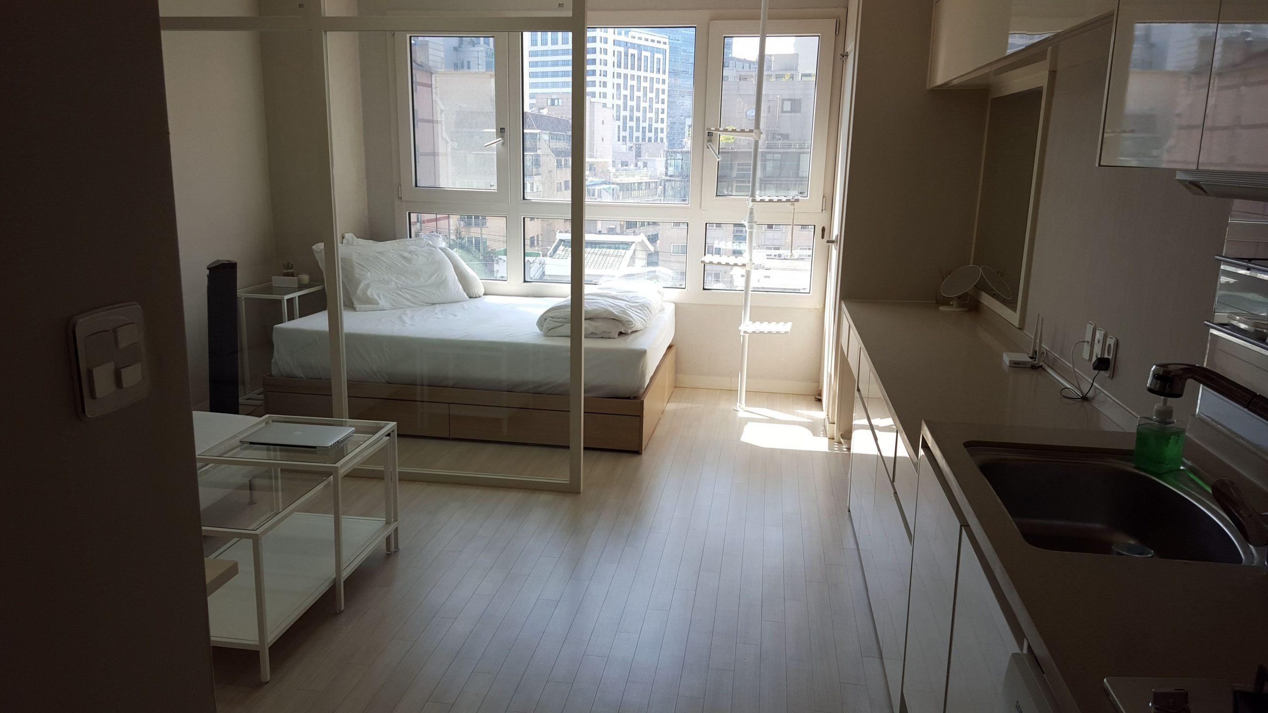 Tiny Modern Apartment in South Korea  Korean apartment interior  - Apartment Korea Design