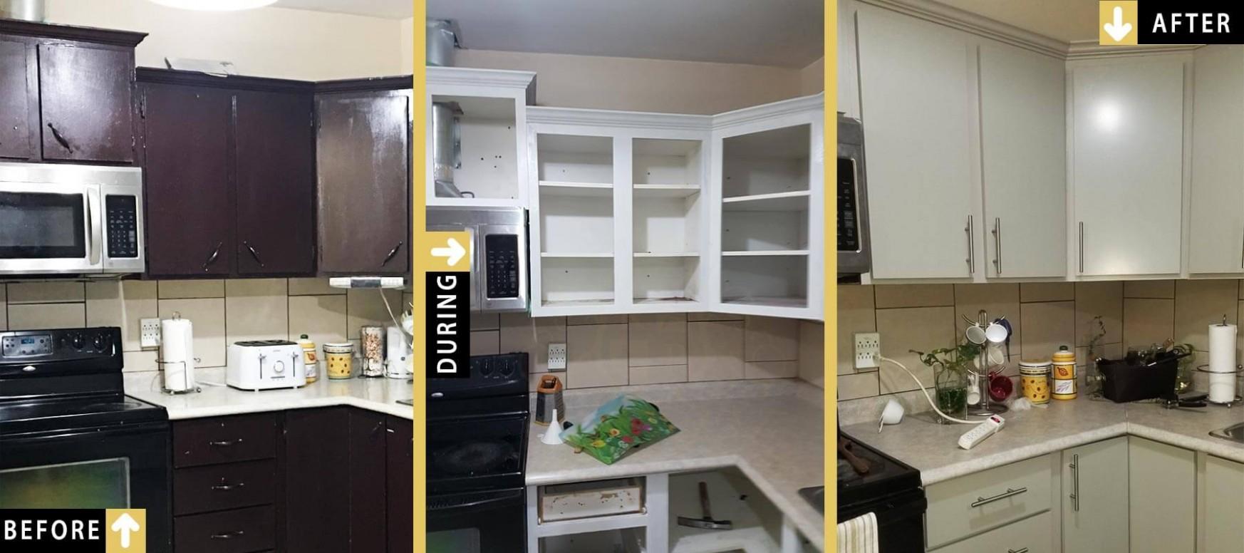 Toronto Kitchen Cabinets Spray Painting Gallery – Royal Home  - Kitchen Cabinet Painting Toronto