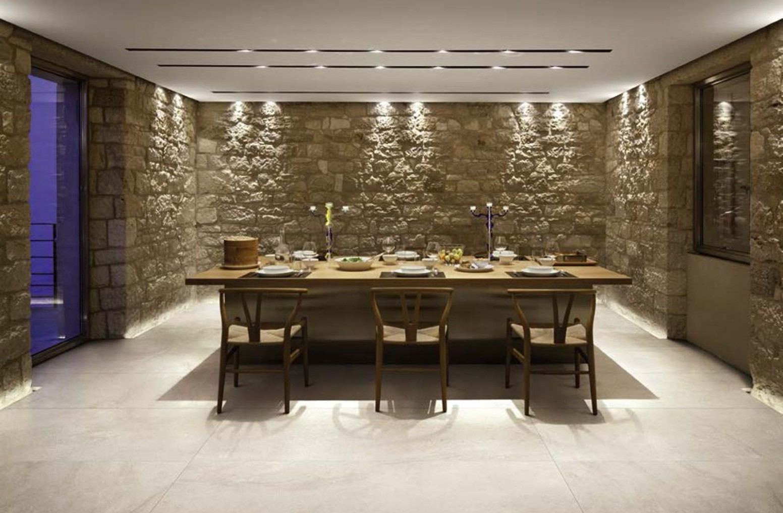 Traditional dining room decor with Styletech tiles from Florim  - Dining Room Tile Ideas