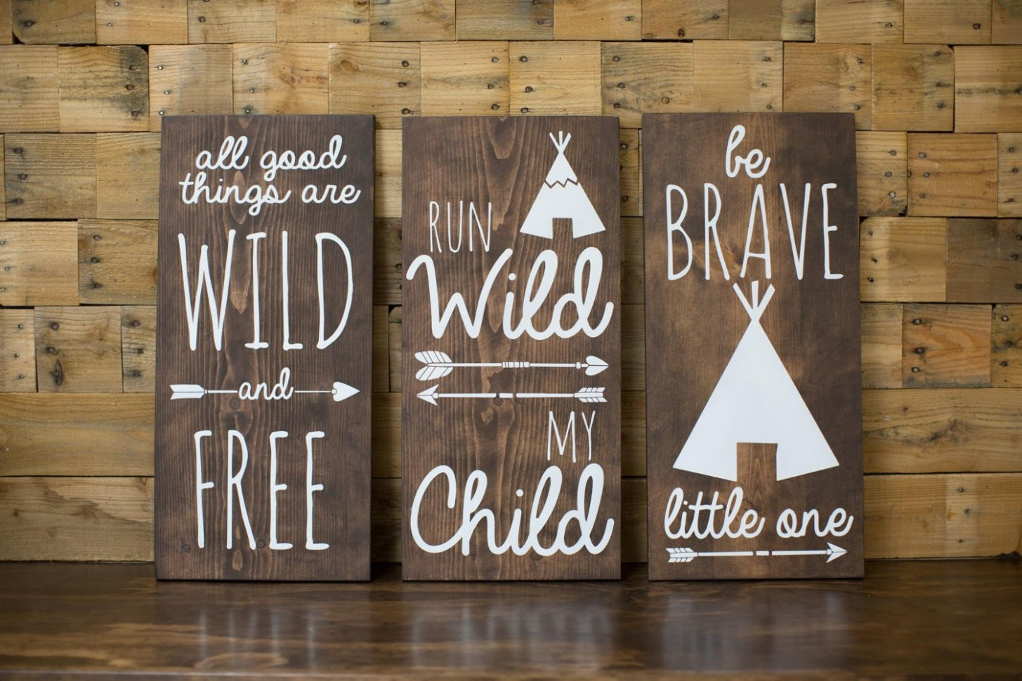 Tribal Nursery Wood Signs  Home Decor Baby Shower Gift  Tribal  - Baby Room Signs