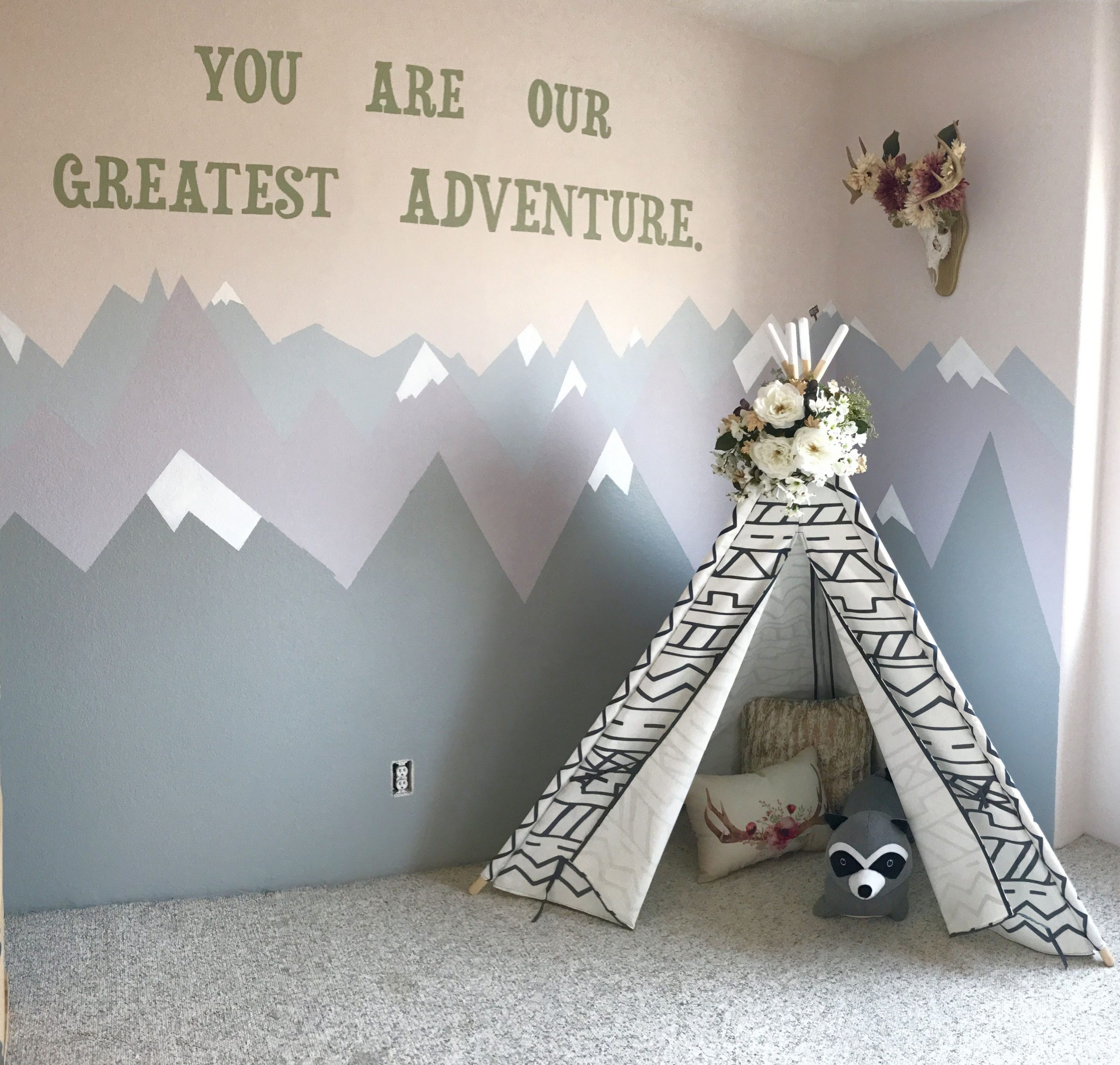 Tribal woodland playroom for our little one