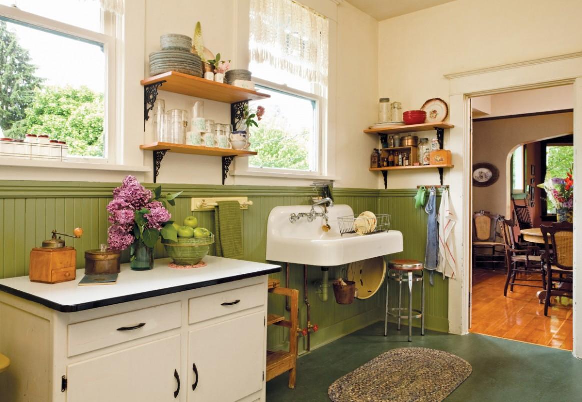 True Vintage Kitchen - Old House Journal Magazine - Vintage Sears Kitchen Cabinets