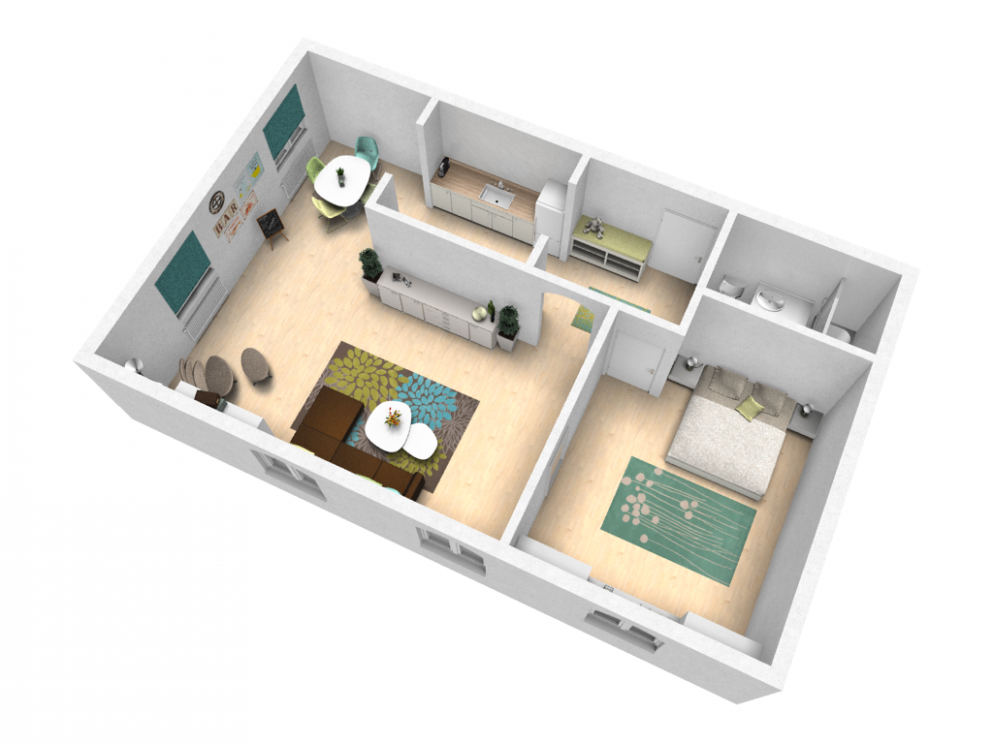 Try out your ideas in our sample apartment - pCon-Blog - Apartment Design Software