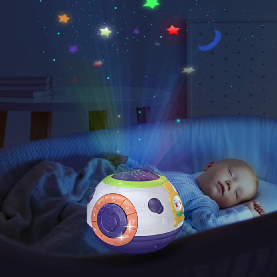 TUMAMA Baby Toy Gifts for Newborn, Toddlers Night Light Star Projector,  Baby Sleep Soother Sound Machine, Talking Baby Toys - Baby Room Projector