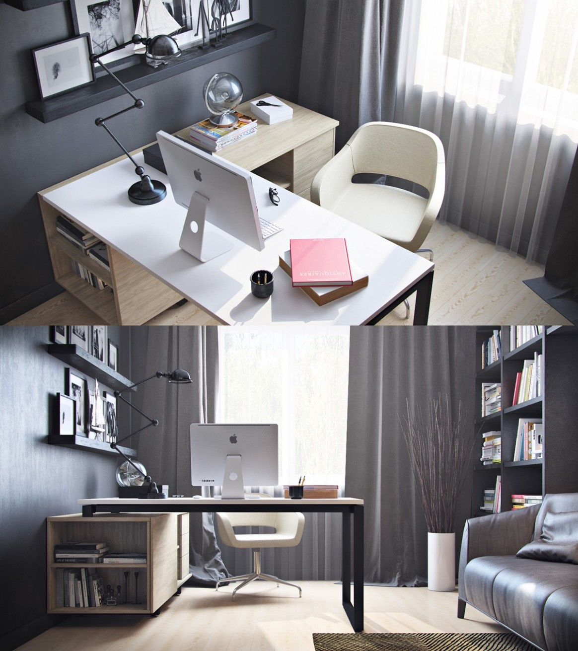 Unique L-shaped workspace desk ideas - Hupehome - Home Office Ideas With L Shaped Desk