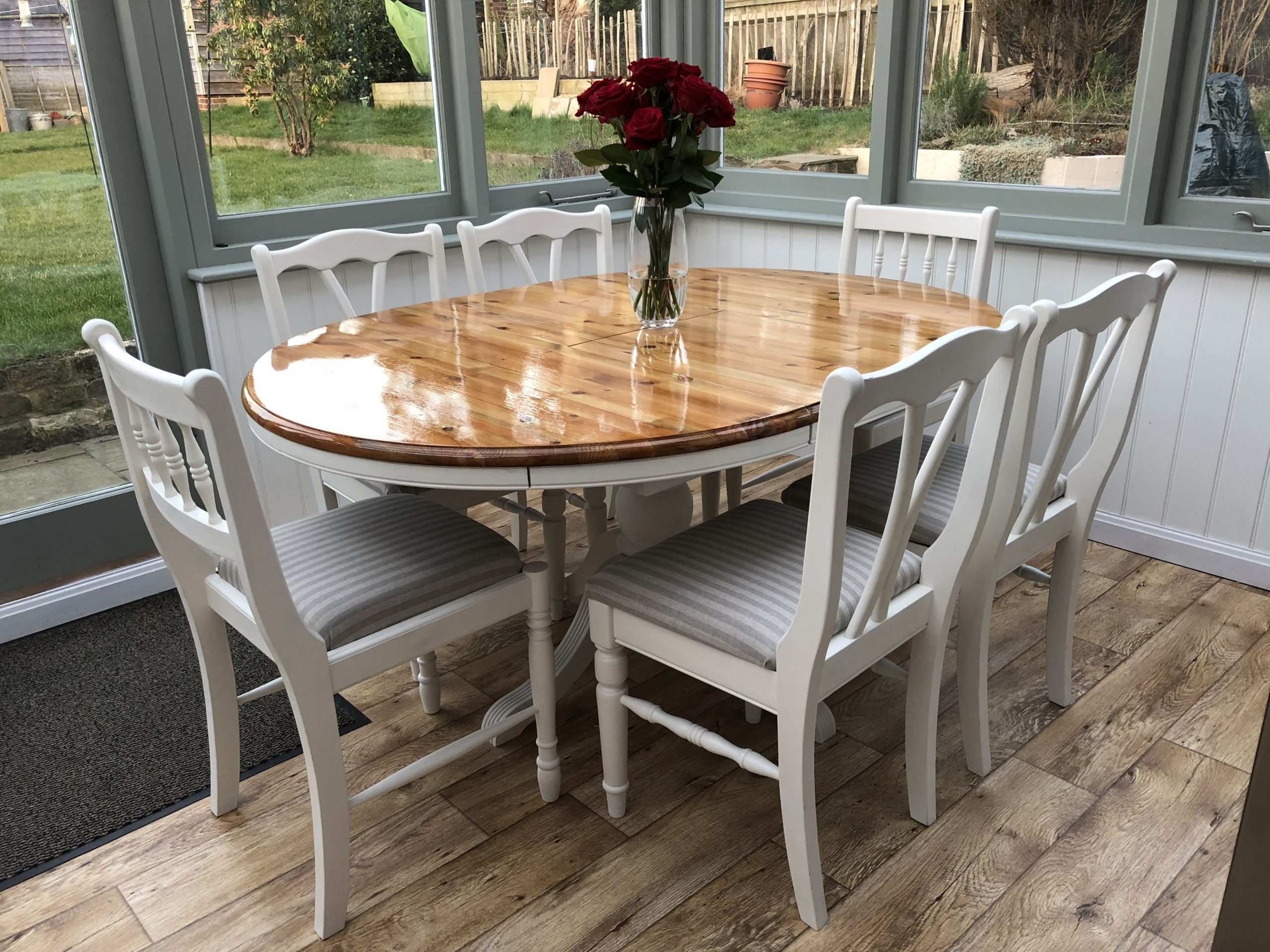 Upcycled pine dining table and chairs using Annie Sloan original  - Dining Room Upcycle Ideas