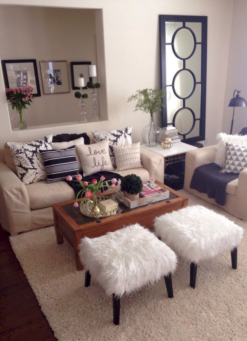 Use these gorgeous modern living room ideas, even if you have a  - Rental Apartment Decor Ideas