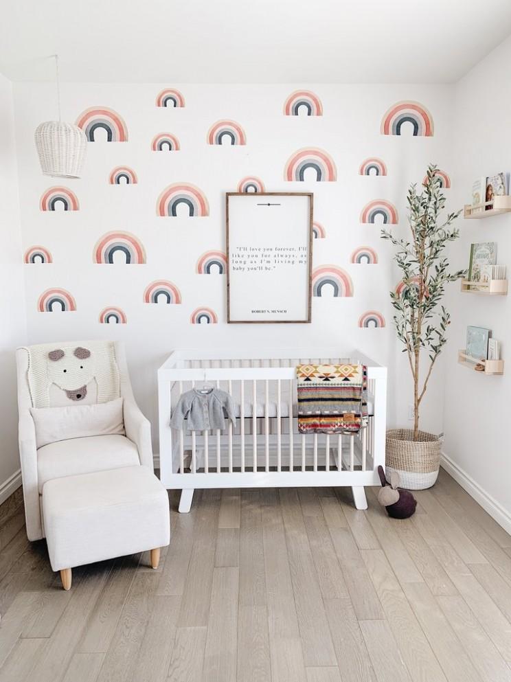 Vintage Rainbow Wall Stickers - Baby Room Rainbow