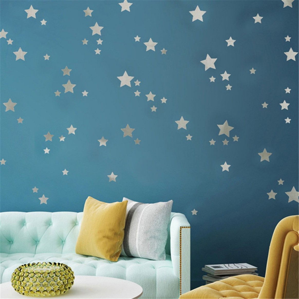 Wall Decal Vinyl Sticker for Kids Boy Girls Baby Room Decoration Good Night  Nursery Wall Decor Home House Bedroom Design(silver) - Baby Room Wall Decor