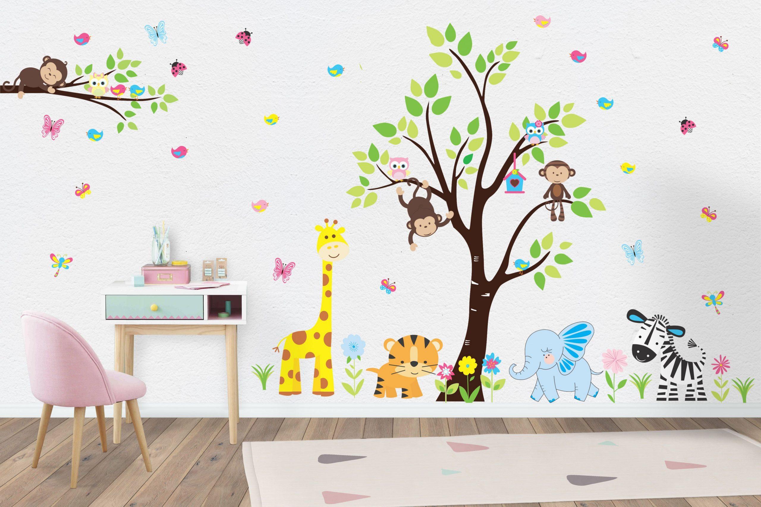 Wall Decals Nursery  Safari Animal Stickers  Jungle Animal  - Baby Room Wall Decals