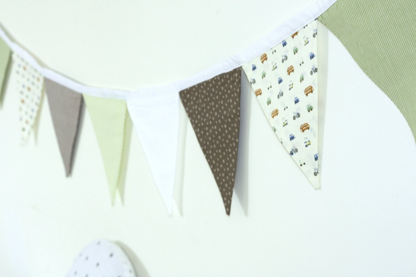Wall Decoration, Nursery Decor, Baby Boy Room, Fabric Garland  - Baby Room Garland