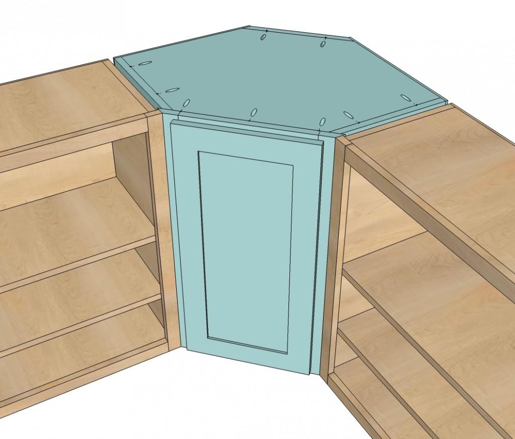Wall Kitchen Corner Cabinet  Ana White - 24 Inch Corner Kitchen Base Cabinet