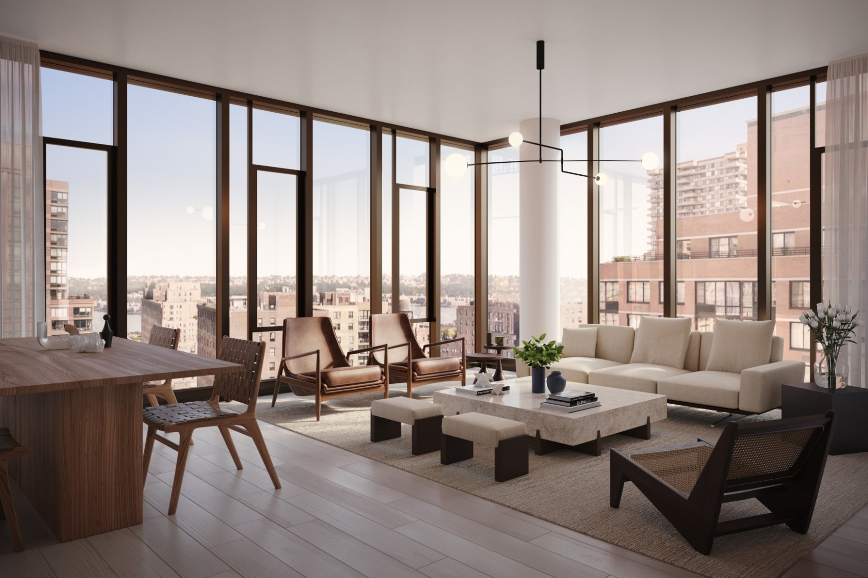 Walls of glass: How to decorate your NYC apartment with floor-to  - Apartment Design Large Windows