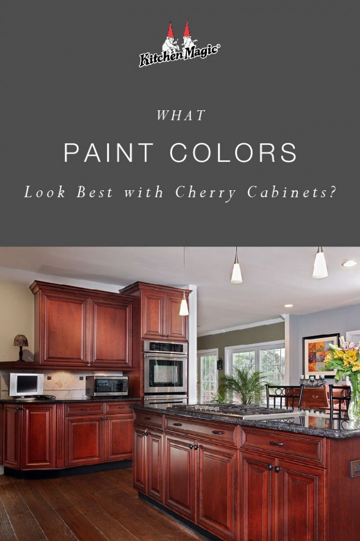 What Paint Colors Look Best With Cherry Cabinets?  Cherry wood  - Kitchen Wall Paint Colors With Cherry Cabinets