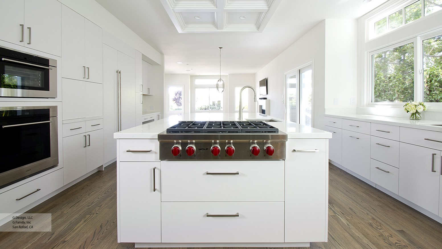 White Kitchen with Modern Cabinets - Omega Cabinetry - Modern White Kitchen Cabinets Photos