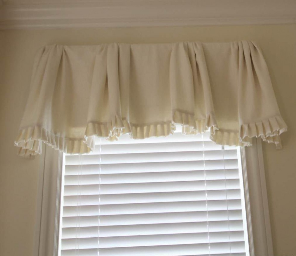 White Valances for Bedroom Windows  Arched window treatments  - Window Valance Ideas For Bedroom