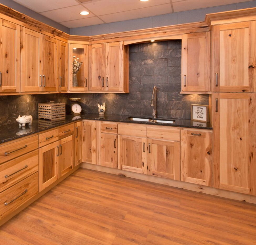 Wholesale RTA Hickory Shaker Kitchen Cabinets  Columbus Cabinetry RTA - Natural Hickory Kitchen Cabinets