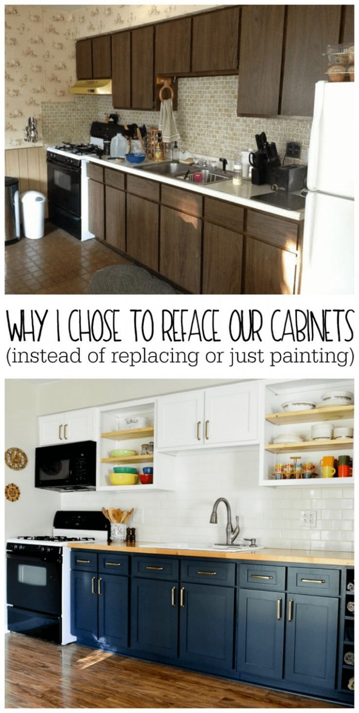 Why I Chose to Reface My Kitchen Cabinets (rather than paint or  - How To Reface Kitchen Cabinets With Paint