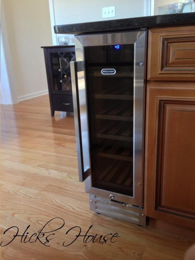Wine a Little  Hicks House  Wine fridge, Kitchen remodel, Diy  - Wine Fridge Kitchen Cabinet