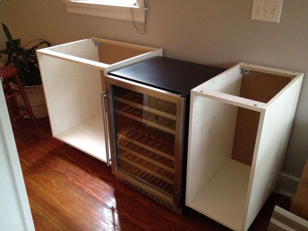 Wine Fridge - IKEA Hackers: NUMERAR AKURUM DIY = Chic Wine Bar  - Wine Fridge Kitchen Cabinet