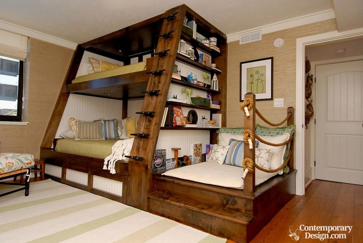 Wood double decker designs  Diy bunk bed, Cool bunk beds, Bunk  - Bedroom Ideas Double Deck