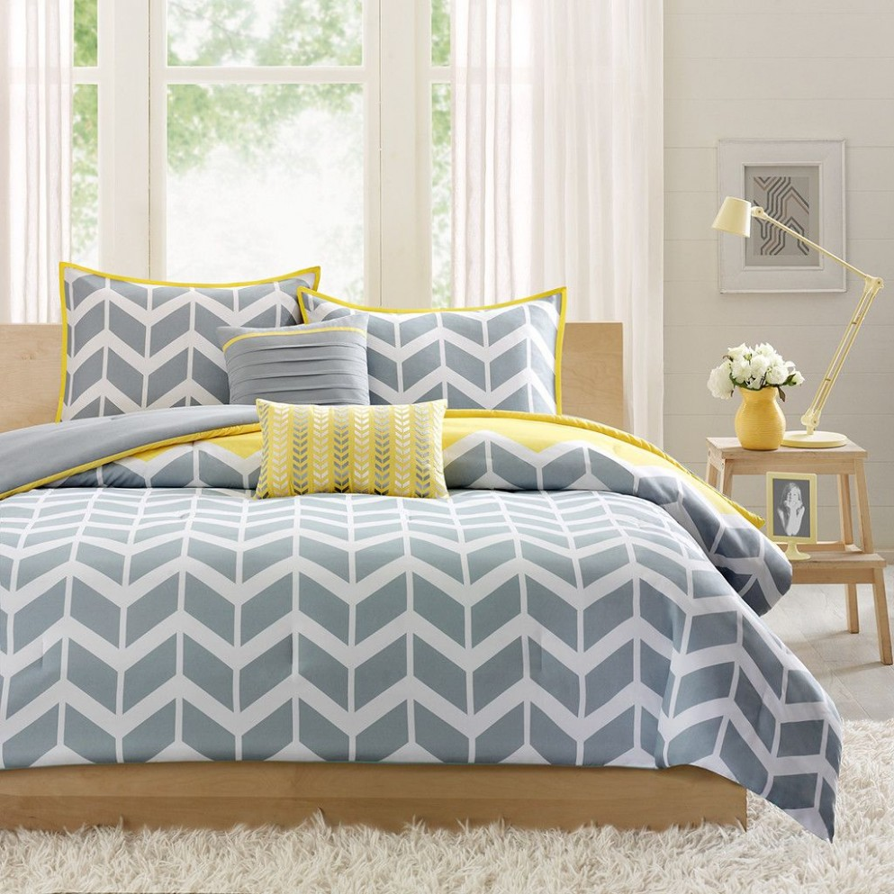 Yellow and Gray Bedding That Will Make Your Bedroom Pop - Bedroom Ideas Yellow And Grey