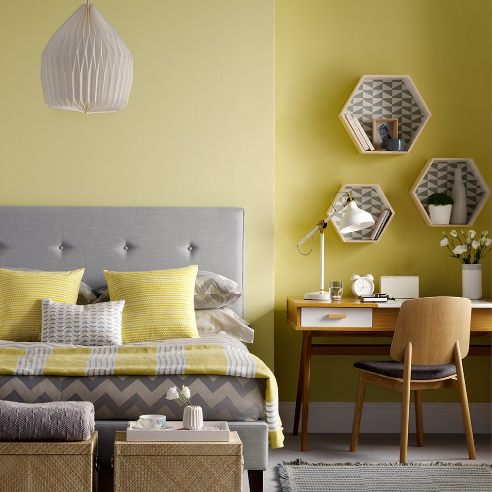 Yellow bedroom ideas for sunny mornings and sweet dreams - Bedroom Ideas Yellow And Grey