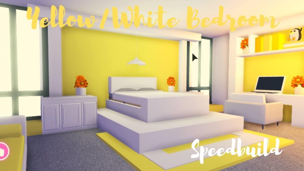 Yellow/White BEDROOM SPEEDBUILD ♡Adopt me Roblox - Bedroom Ideas In Adopt Me