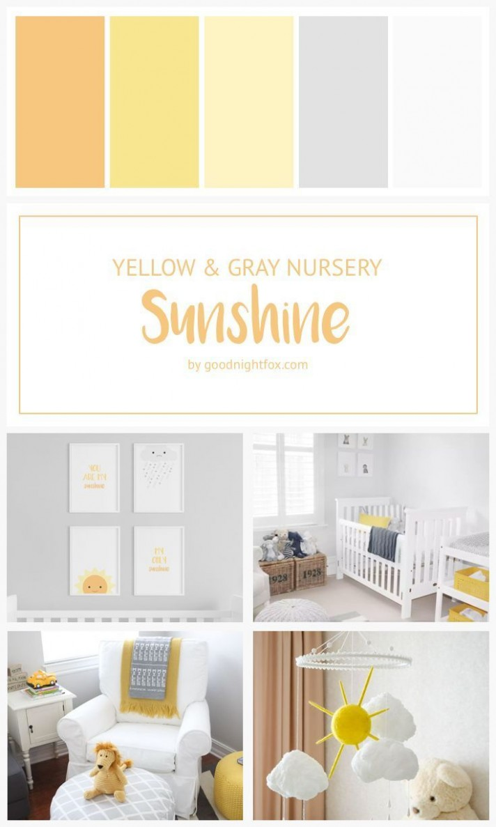 You Are My Sunshine  Sunshine Nursery  Yellow & Gray Nursery  - Baby Room Yellow