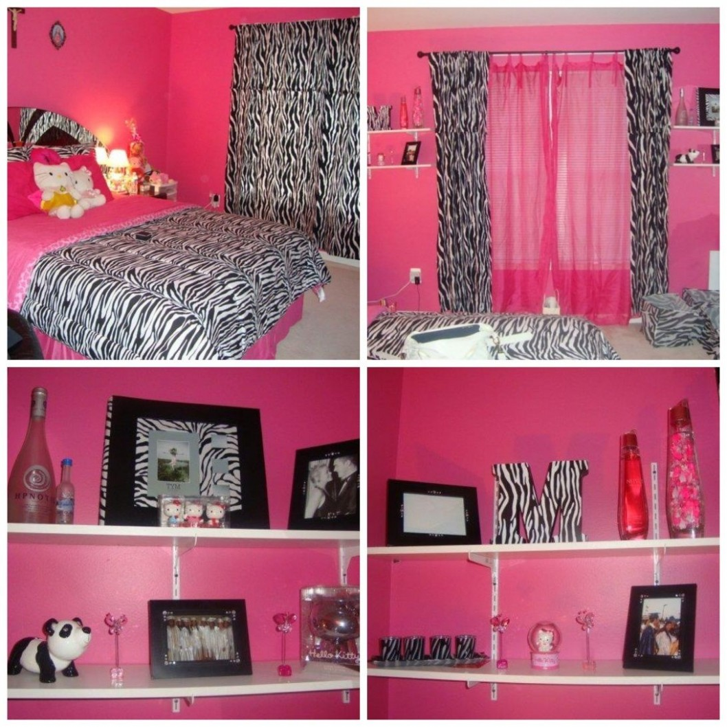 Zebra print decorating ideas bedroom pink zebra bedroom idea  - Zebra Bedroom Ideas