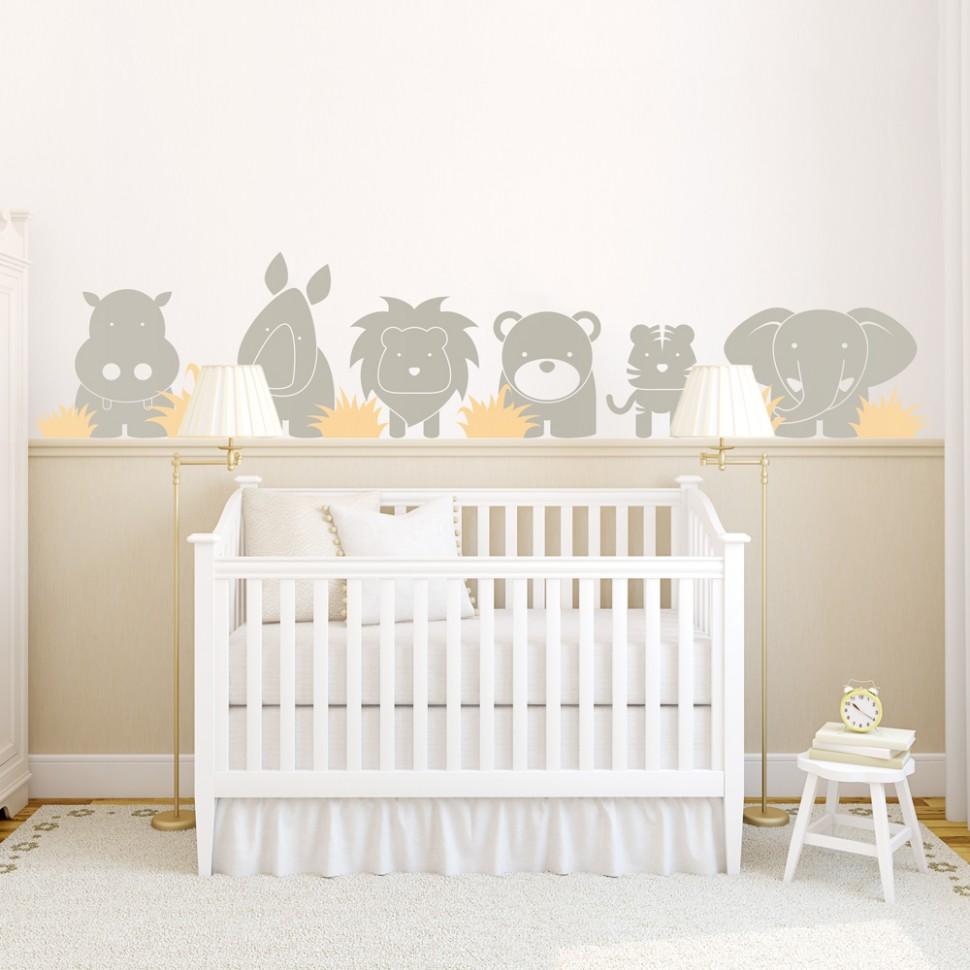 Zoo Babies Wall Decal - Baby Room Wall Decals